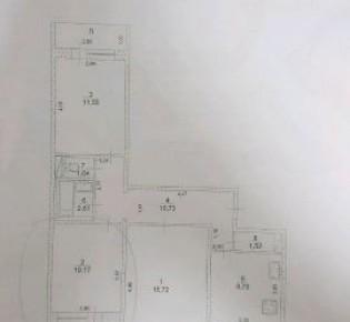 Комната в 3-комн. квартире, 11 м², 9/9 эт.