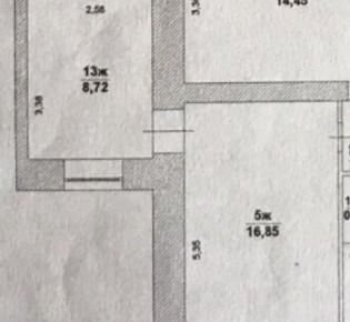 Комната в 7-комн. квартире, 25.6 м², 1/9 эт.