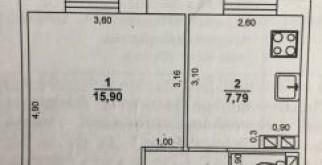 1-комн. квартира, 32 м², 1/2 эт.